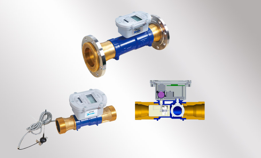 Table valve integrated NB remote water meter